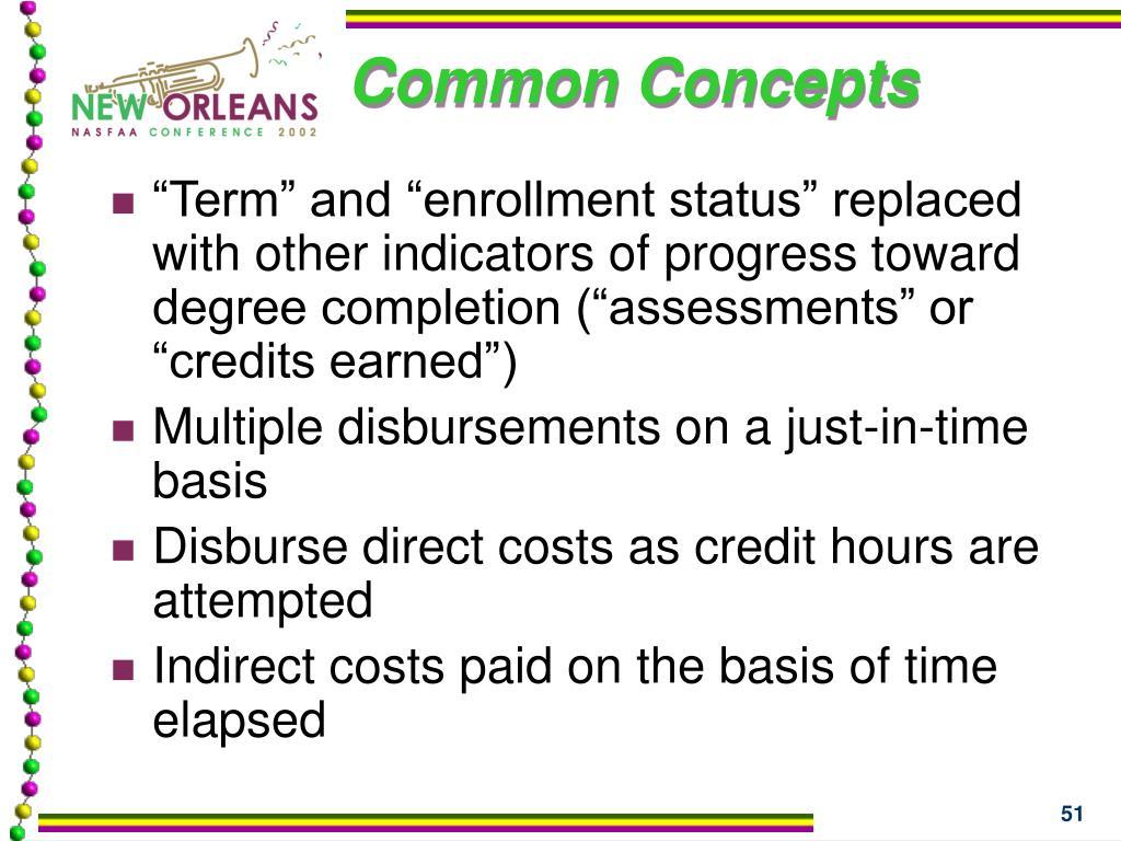 Common Concepts