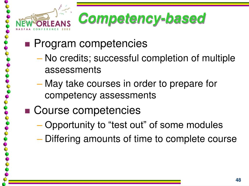Competency-based