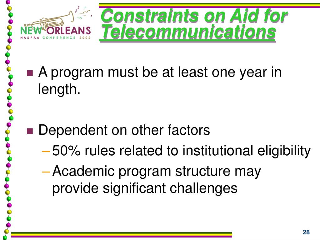 Constraints on Aid for