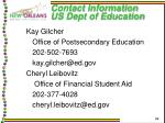 contact information us dept of education