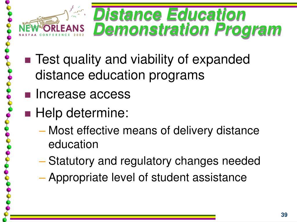 Distance Education Demonstration Program