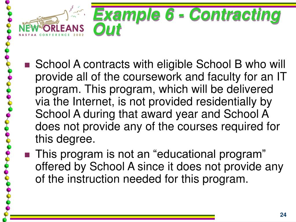 Example 6 - Contracting Out