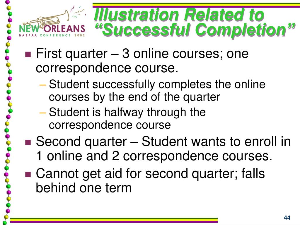 """Illustration Related to """"Successful Completion"""""""