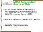 nces reports best source of data