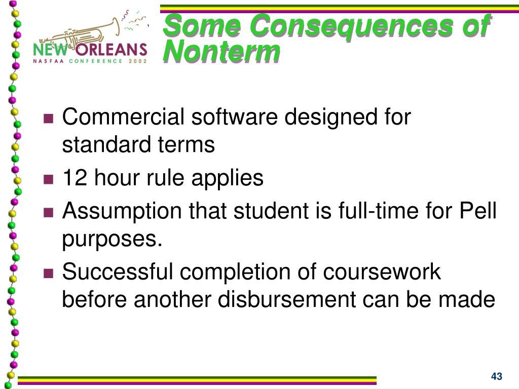 Some Consequences of Nonterm