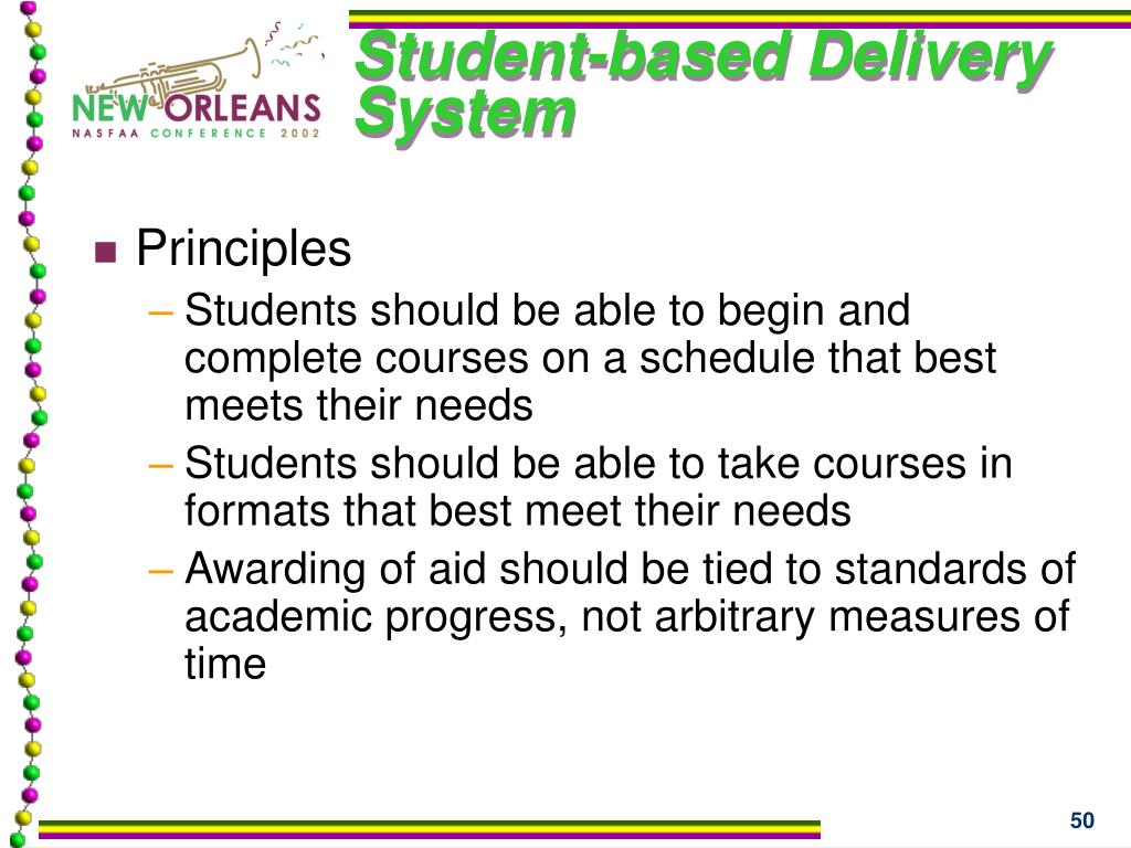 Student-based Delivery System