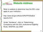website address
