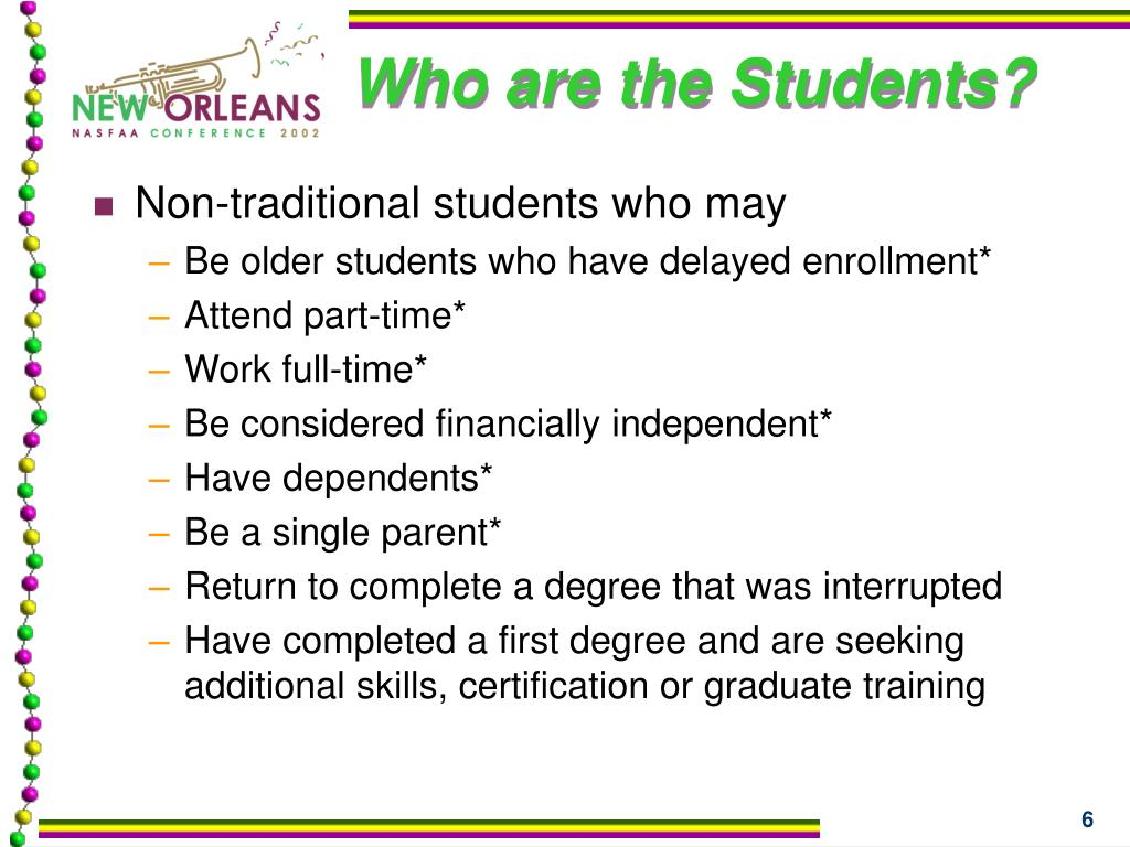 Who are the Students?