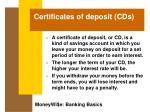 certificates of deposit cds32