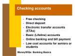 checking accounts18