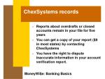 chexsystems records