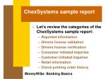 chexsystems sample report