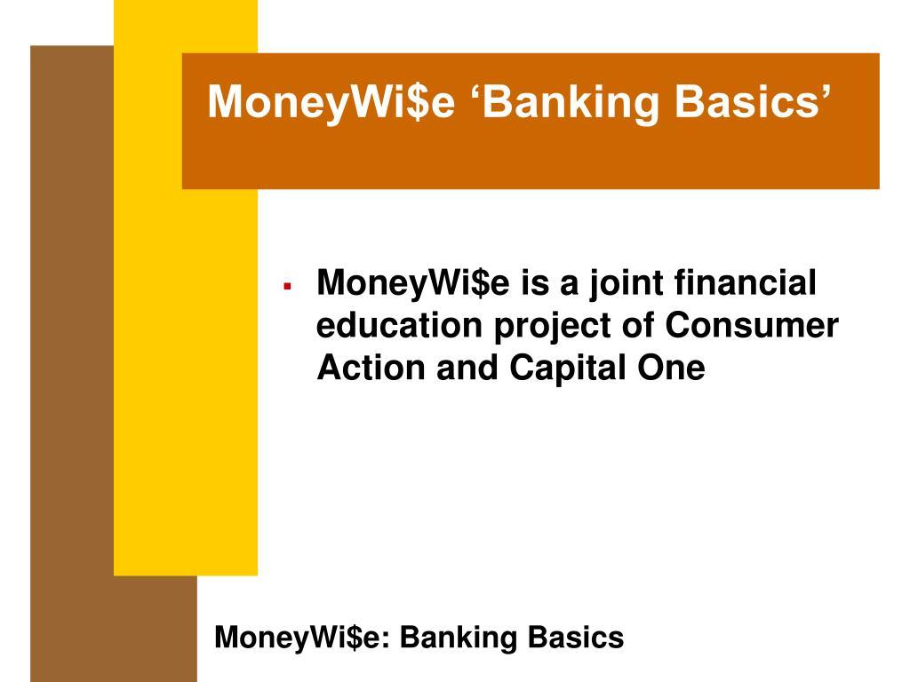 moneywi e banking basics l.
