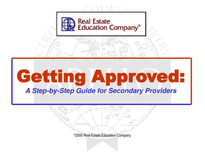 getting approved a step by step guide for secondary providers n.