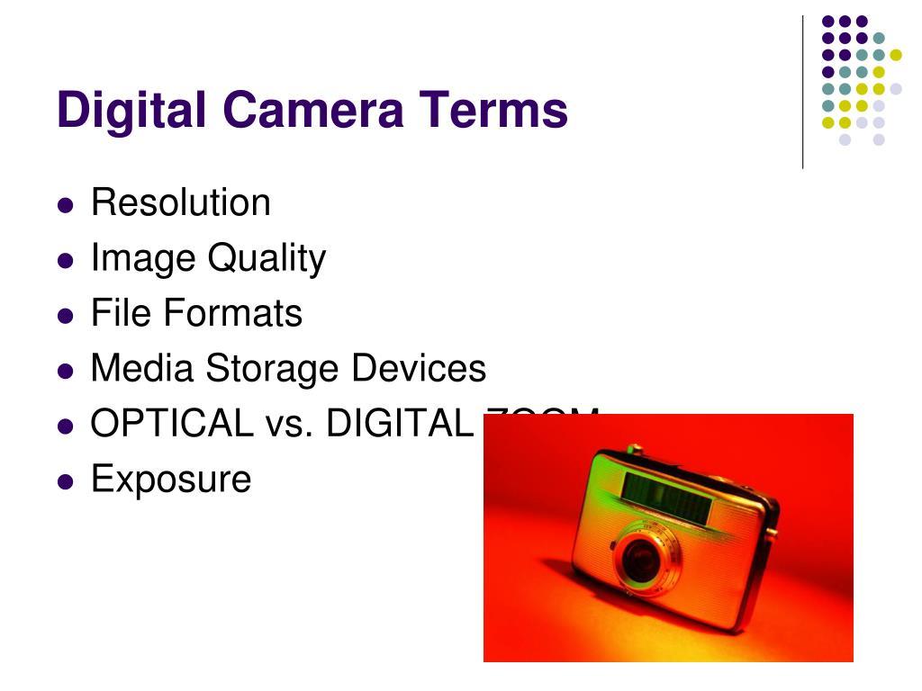 Digital Camera Terms