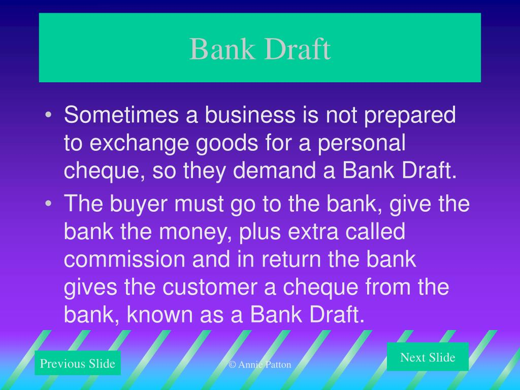 Bank Draft