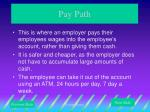 pay path