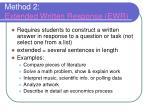 method 2 extended written response ewr