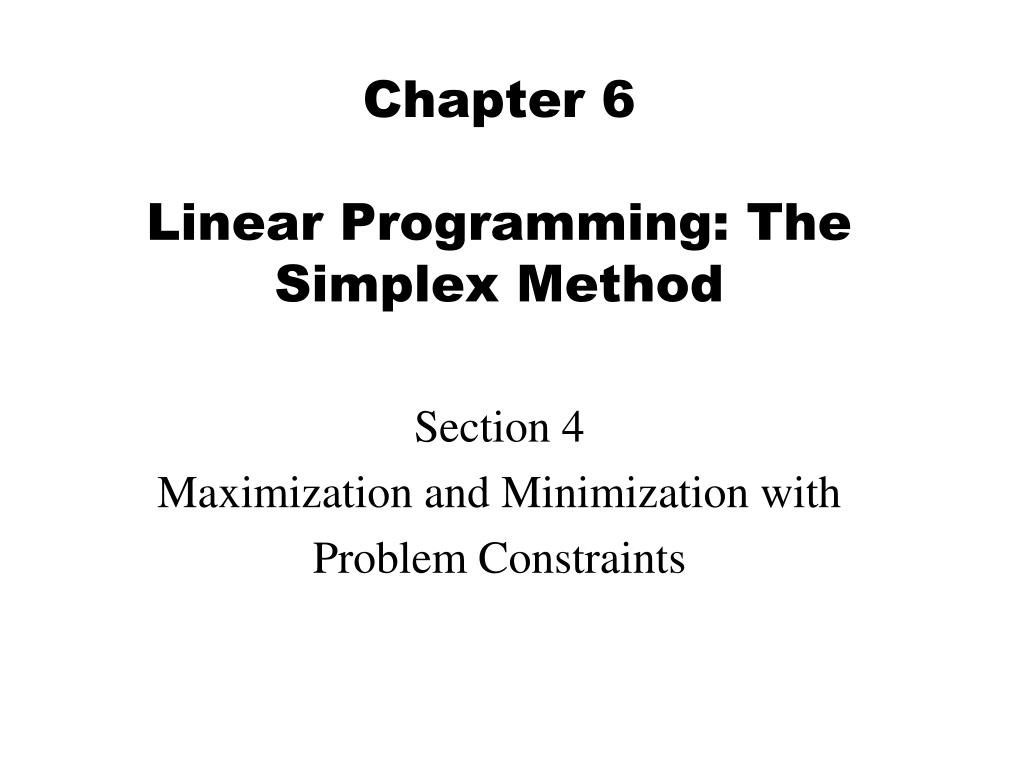 graphical and simplex methods of linear Linear programs, than other competing simplex methods by other writers the proposed method could be applied to solve operations research based problems in fuzzy linear programming, goal programming.