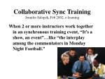 collaborative sync training jennifer salopek feb 2002 e learning