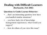 dealing with difficult learners barbazette feb 200211
