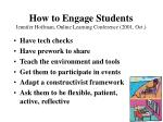 how to engage students jennifer hoffman online learning conference 2001 oct