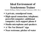 ideal environment of synchronous trainer jennifer hoffman online learning conference 2001 oct