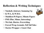 reflection writing techniques