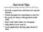 survival tips jennifer hoffman online learning conference 2001 oct37