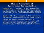 student perceptions of synchronous communication20