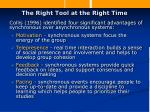 the right tool at the right time12
