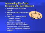 accounting for cash reconciling the bank statement