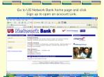 go to us network bank home page and click sign up to open an account link