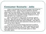 consumer scenario julia