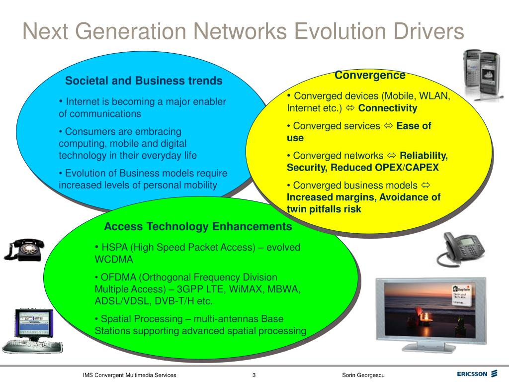 Next Generation Networks Evolution Drivers