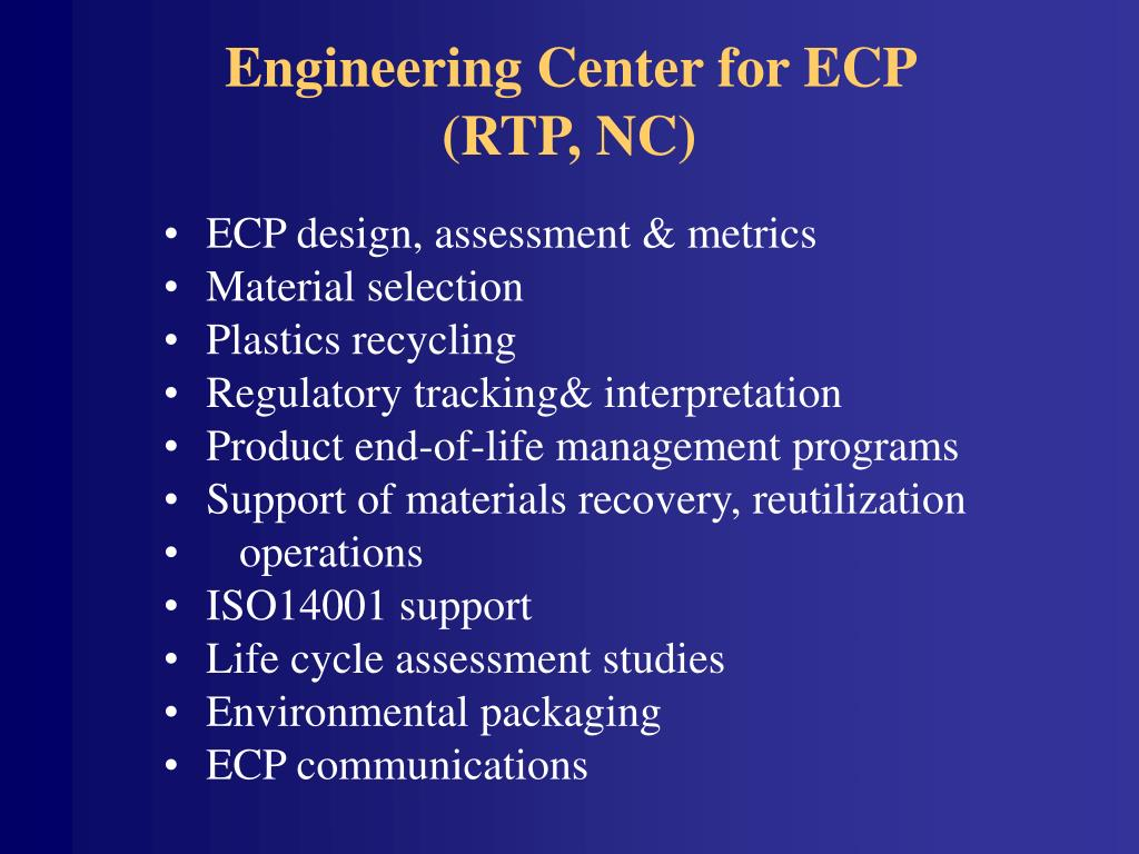 Engineering Center for ECP