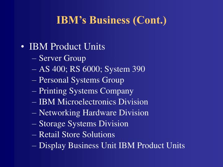 Ibm s business cont