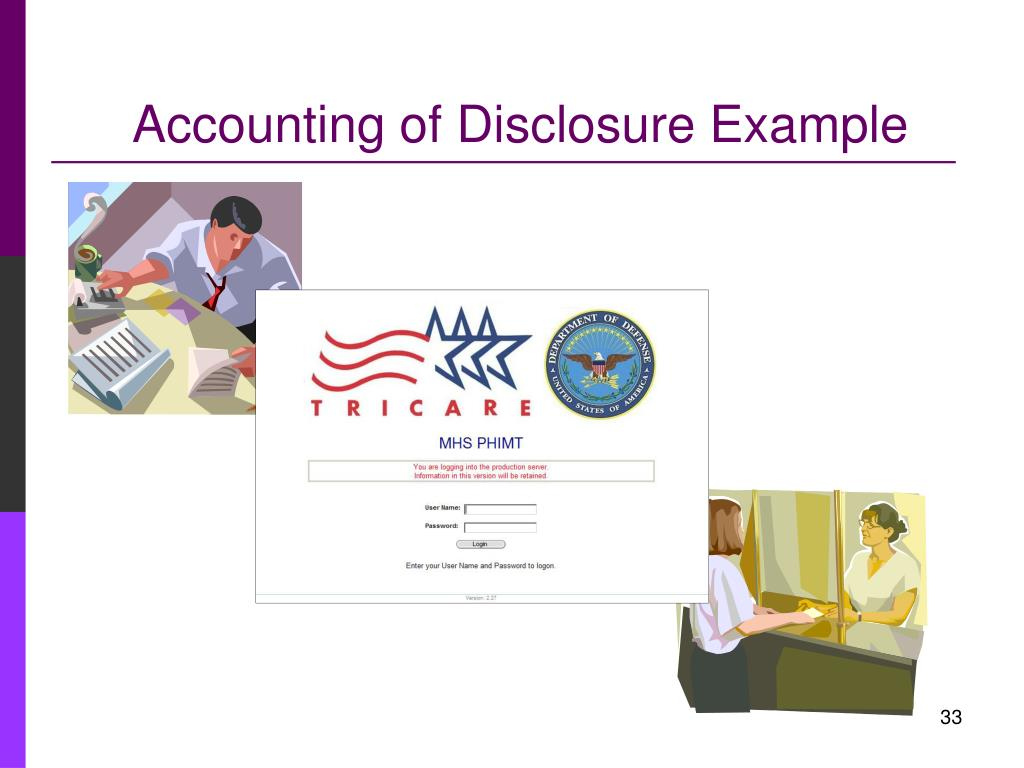 Accounting of Disclosure Example