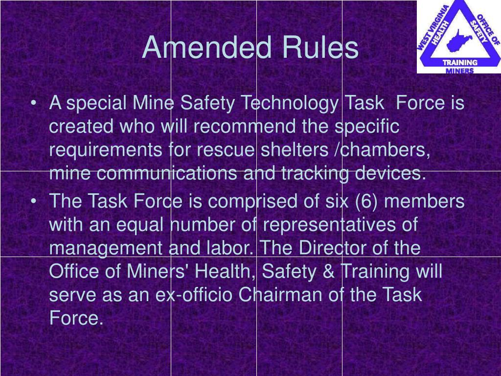 Amended Rules