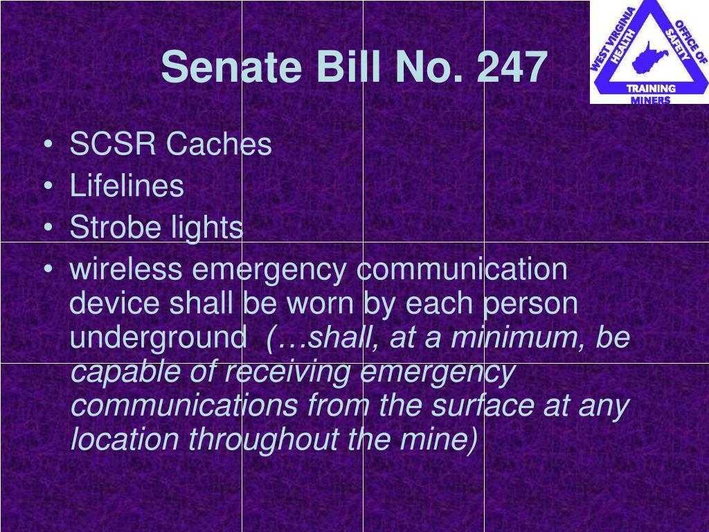 Senate Bill No. 247