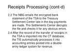 receipts processing cont d