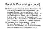 receipts processing cont d10