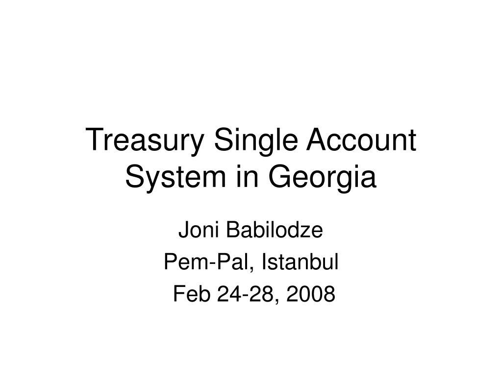 treasury single account system in georgia l.