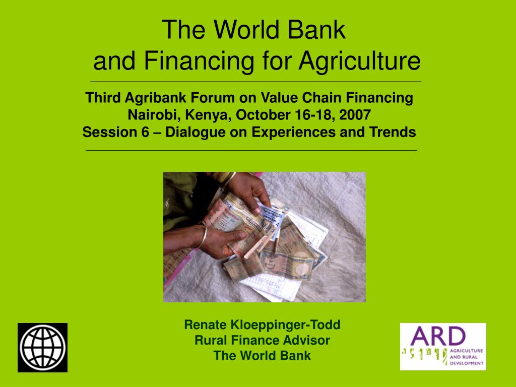 the world bank and financing for agriculture l.
