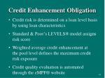 credit enhancement obligation