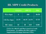 iii mpf credit products24