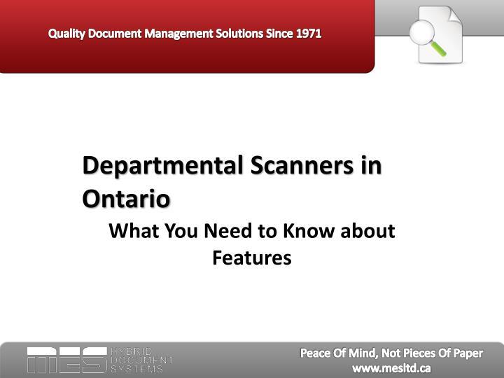departmental scanners in ontario n.