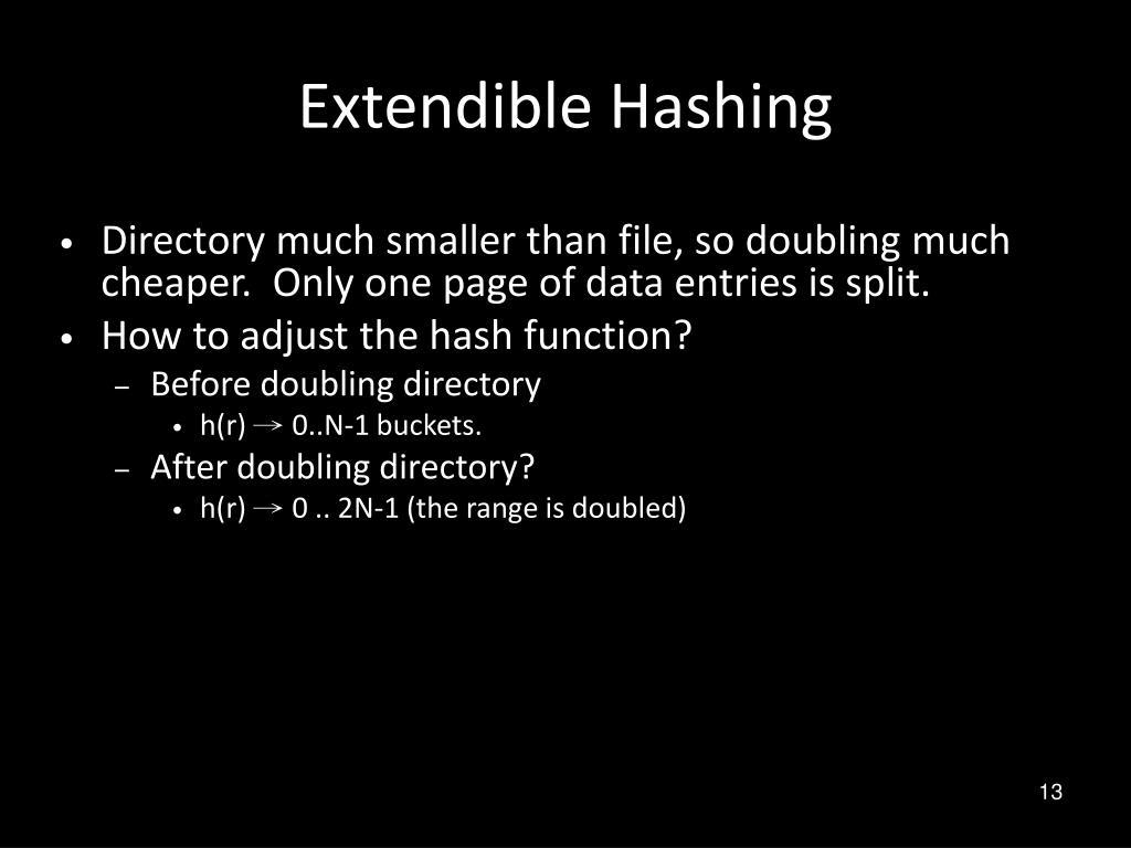 Extendible Hashing