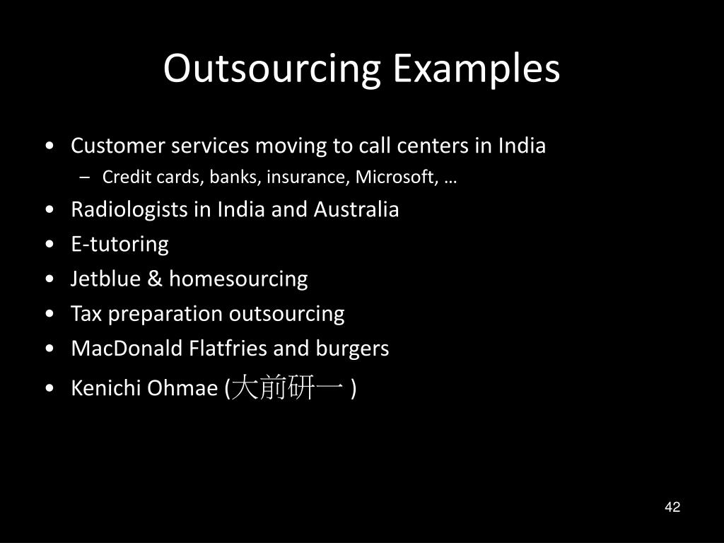 Outsourcing Examples
