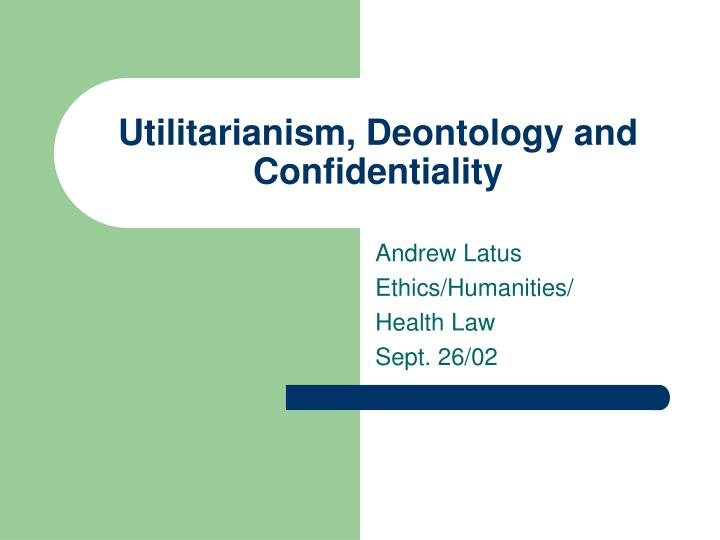 an introduction to the analysis of deontological ethics
